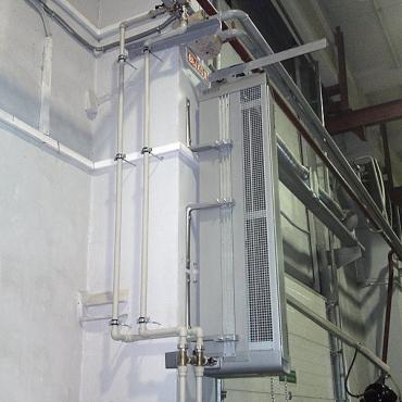 Установка тепловых завес в складских помещениях