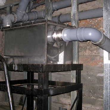 Монтаж жироуловителей для ресторана в подвальном помещении