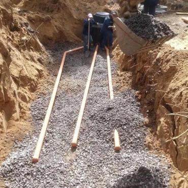 Строительство поля фильтрации для сточных вод турбазы