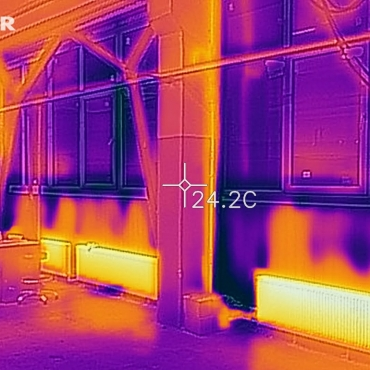 Обследование тепловизором системы отопления цеха после монтажа
