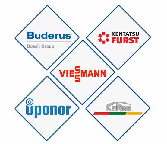 Логотипы брендов отопительного оборудования
