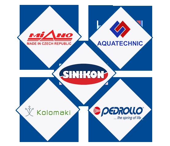 Логотипы брендов канализационного оборудования