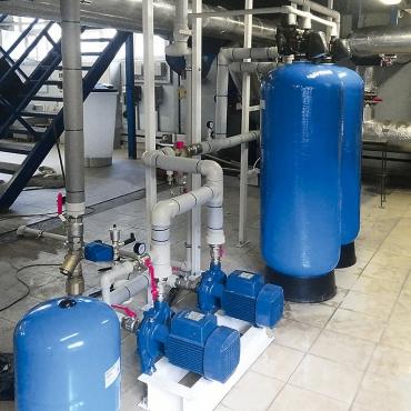 Монтаж системы водоподготовки промышленной котельной