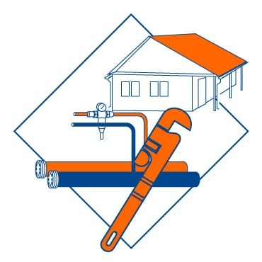Монтаж наружного водопровода ХВС и ГВС на участке частного дома
