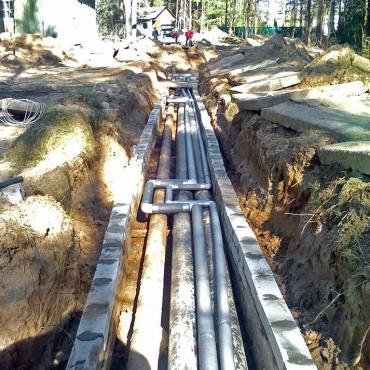 Монтаж наружных сетей водопровода турбазы