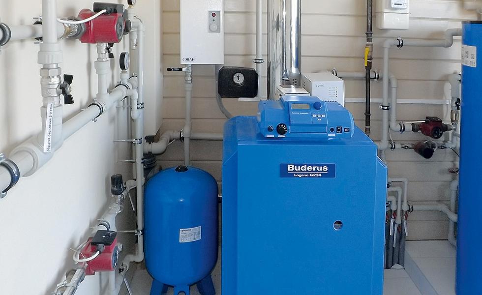 Монтаж напольного газового котла в частном доме