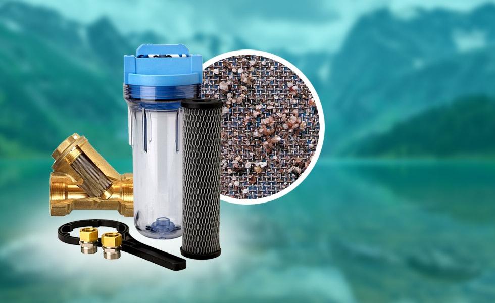 Фильтр грубой очистки воды для квартиры на входе системы водоснабжения перед счетчиком