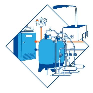 Водоподготовка для промышленных котлов с обслуживанием