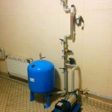 Обвязка насоса для системы водоснабжения